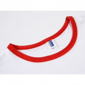 Kaos Polos Katun Pria Lengan Pendek O Neck Size S - 85606 / T-Shirt - Red - 3