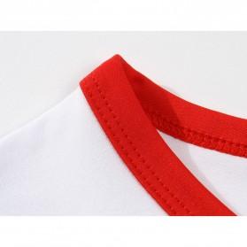 Kaos Polos Katun Pria Lengan Pendek O Neck Size S - 85606 / T-Shirt - Red - 5