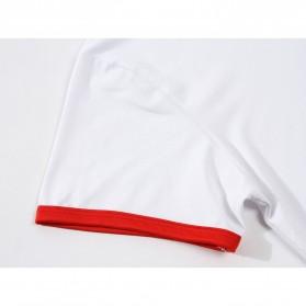 Kaos Polos Katun Pria Lengan Pendek O Neck Size S - 85606 / T-Shirt - Red - 6