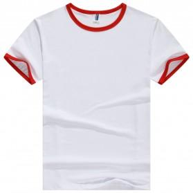 Kaos Polos Katun Pria Lengan Pendek O Neck Size M - 85606 / T-Shirt - Red - 1
