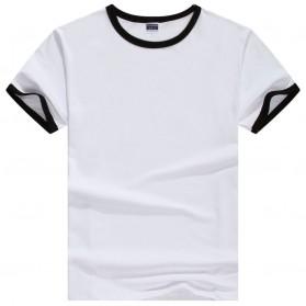 Kaos Polos Katun Pria Lengan Pendek O Neck Size L - 85606 / T-Shirt - Black