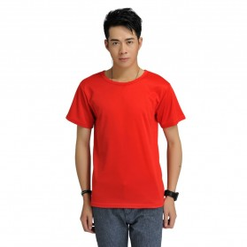 Baju Olahraga Mesh Pria O Neck Size M - 85301 / T-Shirt - Red - 1