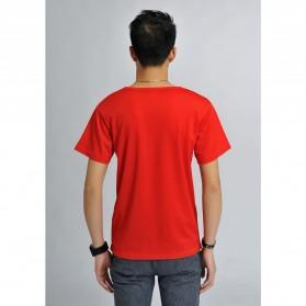Baju Olahraga Mesh Pria O Neck Size M - 85301 / T-Shirt - Red - 2