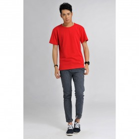 Baju Olahraga Mesh Pria O Neck Size M - 85301 / T-Shirt - Red - 3