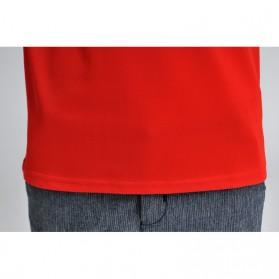 Baju Olahraga Mesh Pria O Neck Size M - 85301 / T-Shirt - Red - 4