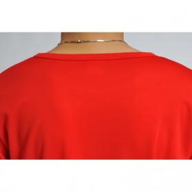 Baju Olahraga Mesh Pria O Neck Size M - 85301 / T-Shirt - Red - 5