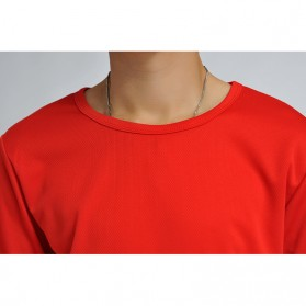 Baju Olahraga Mesh Pria O Neck Size M - 85301 / T-Shirt - Red - 6