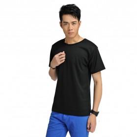 Baju Olahraga Mesh Pria O Neck Size L - 85301 / T-Shirt - Black