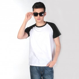 Baju Olahraga Mesh Pria O Neck Size L - 85302 / T-Shirt - Black