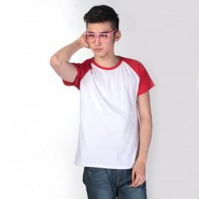 Baju Olahraga Mesh Pria O Neck Size L - 85302 / T-Shirt - Red