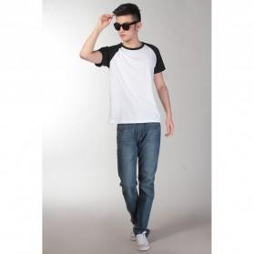 Baju Olahraga Mesh Pria O Neck Size XL - 85302 / T-Shirt - Black - 2
