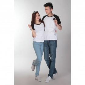 Baju Olahraga Mesh Pria O Neck Size XL - 85302 / T-Shirt - Black - 3