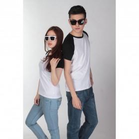 Baju Olahraga Mesh Pria O Neck Size XL - 85302 / T-Shirt - Black - 4