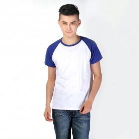 Baju Olahraga Mesh Pria O Neck Size XL - 85302 / T-Shirt - Blue