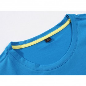 Kaos Polos Katun Pria O Neck Size M - 81402B / T-Shirt - White - 3
