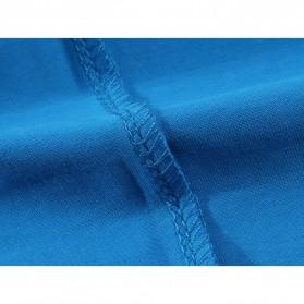 Kaos Polos Katun Pria O Neck Size M - 81402B / T-Shirt - White - 9