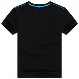 Kaos Polos Katun Pria O Neck Size L - 81402B / T-Shirt - Black