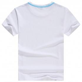 Kaos Polos Katun Pria O Neck Size L - 81402B / T-Shirt - White - 2