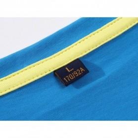Kaos Polos Katun Pria O Neck Size L - 81402B / T-Shirt - White - 4