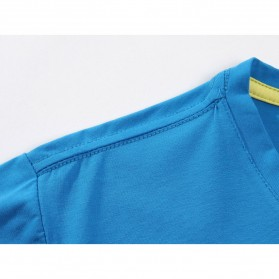 Kaos Polos Katun Pria O Neck Size L - 81402B / T-Shirt - White - 5