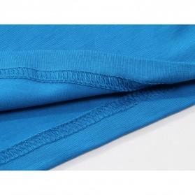 Kaos Polos Katun Pria O Neck Size L - 81402B / T-Shirt - White - 8