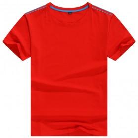 Kaos Polos Katun Pria O Neck Size L - 81402B / T-Shirt - Red - 1