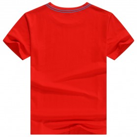 Kaos Polos Katun Pria O Neck Size L - 81402B / T-Shirt - Red - 2