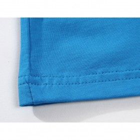 Kaos Polos Katun Pria O Neck Size L - 81402B / T-Shirt - Red - 7