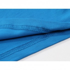 Kaos Polos Katun Pria O Neck Size L - 81402B / T-Shirt - Red - 8