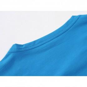 Kaos Polos Katun Pria O Neck Size L - 81402B / T-Shirt - Red - 10