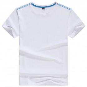 Kaos Polos Katun Pria O Neck Size S - 81402B / T-Shirt - White - 1