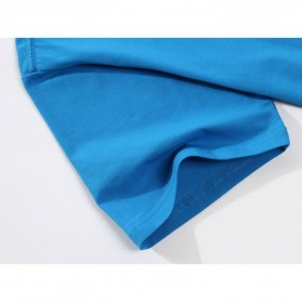 Kaos Polos Katun Pria O Neck Size S - 81402B / T-Shirt - White - 11