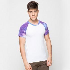 Baju Olahraga Mesh Pria Quick Dry Camouflage Size L - 016 / T-Shirt - Blue
