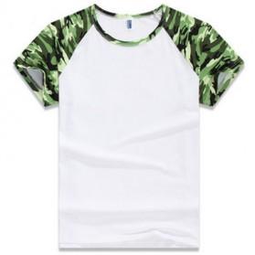 Baju Olahraga Mesh Pria Quick Dry Camouflage Size L - 016 / T-Shirt - Green