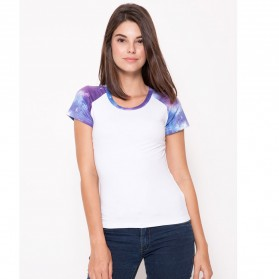 Baju Olahraga Mesh Wanita Quick Dry Camouflage Size M - 016 / T-Shirt - Blue