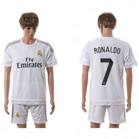 Jersey Sepakbola Real Madrid No 7 Ronaldo Size L - White - 2
