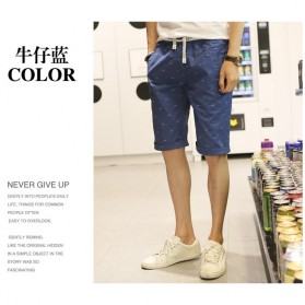 Celana Chinos Pendek Pria Size XL - Dark Blue - 2