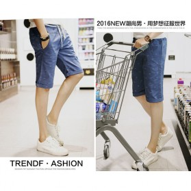 Celana Chinos Pendek Pria Size XL - Dark Blue - 3