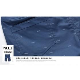 Celana Chinos Pendek Pria Size XL - Dark Blue - 7