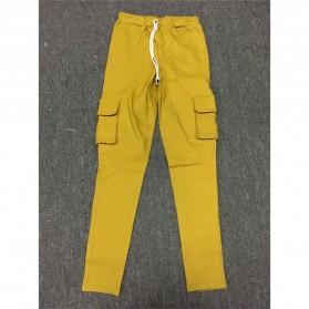Celana Panjang Casual Wanita Polyester Size S - Cream - 3