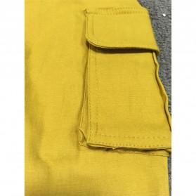 Celana Panjang Casual Wanita Polyester Size S - Cream - 4