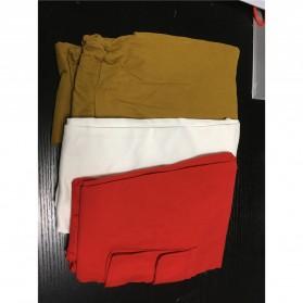 Celana Panjang Casual Wanita Polyester Size S - Cream - 7
