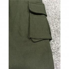 Celana Panjang Casual Wanita Polyester Size S - Green - 4