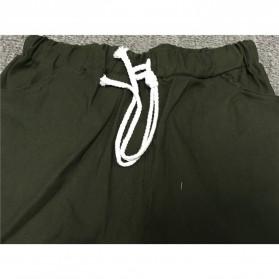 Celana Panjang Casual Wanita Polyester Size S - Green - 5