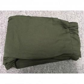 Celana Panjang Casual Wanita Polyester Size S - Green - 6