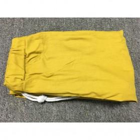 Celana Panjang Casual Wanita Polyester Size M - Cream - 6