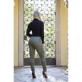 Celana Panjang Casual Wanita Polyester Size M - Green - 2