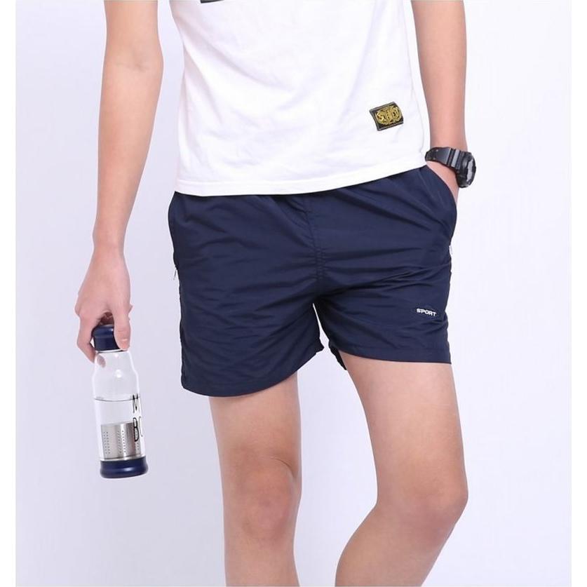 Celana Pantai Santai Pria Anti-UV Size L - Navy Blue - JakartaNotebook.com