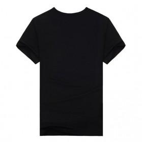 Kaos Katun Pria Nightmare Wolf O Neck Size L / T-Shirt - Black - 2