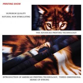 Kaos Katun Pria Nightmare Wolf O Neck Size L / T-Shirt - Black - 4